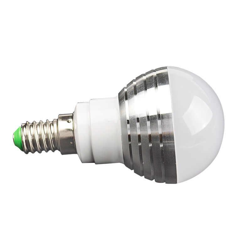 Bedroom Sets E27 LED RGB Bulb lamp AC110V 220V 3W LED RGB Spot light dimmable magic RGB lighting+IR Remote Control 16 colors