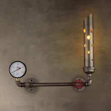 Loft Retro Living Room Restaurant Bedroom Bedside Wall Lamp American Bar Creative Aisle Iron Water Pipe