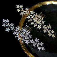ASNORA Hoge kwaliteit zirconia haar kam bruids sieraden hoofdtooi bruiloft haaraccessoires schoonheidssalon accessoires