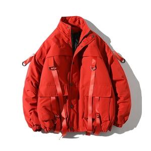 Image 1 - ドロップ配送男性の冬のジャケットカジュアルウインドブレーカーメンズパーカーヒップホップ包帯デザインコートマンストリート生き抜く ABZ59