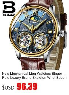 automático relógio mecânico masculino safira japão movimento reloj hombre B1187-0