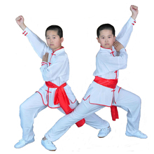 New Kids Adults Chinese traditional Clothing Cotton Wushu Suits Long Sleeved Martial Arts Uniform for Men
