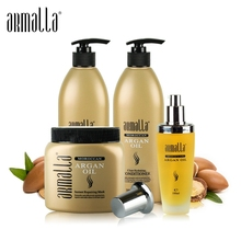 4pcs Armalla 500ml Profissional Natural Shampoo and 500ml Deep Conditioner+500ml Argan Oil For Hair Mask+100ml Argan Oil Set 500ml