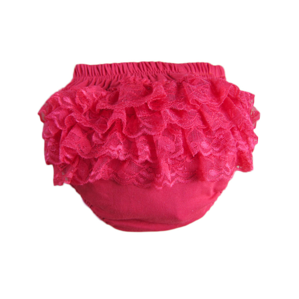 0 24 Months Baby Girls Solid Color Lace Floral Ruffle Short Infant Ruffle Bloomer Diapers Kids Trousers Shorts Cover Nappy in Shorts from Mother Kids