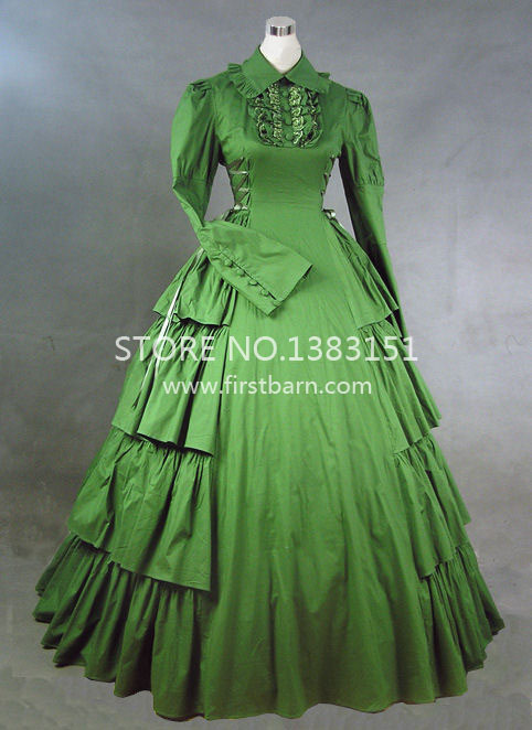 Vintage Gothic Victorian Bow Edwardian Ball Gown Red Party Dresses ...
