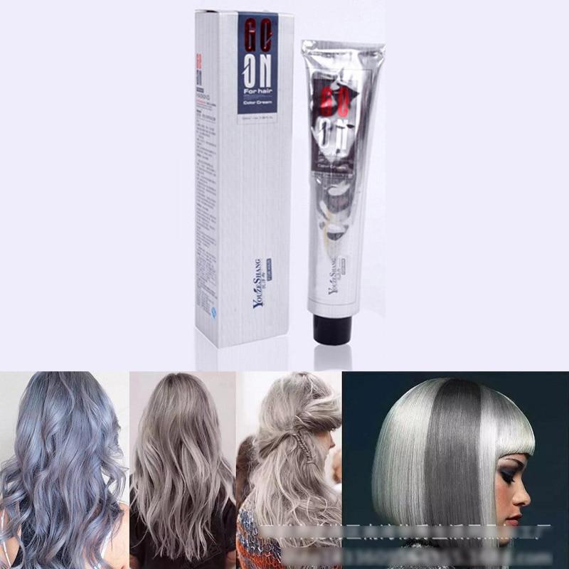 New Silver Grey Hair Color Cream Super Hair Dye Non Toxic
