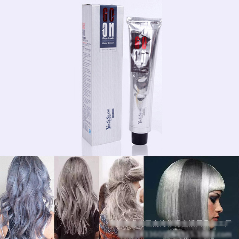 Silver Grey Hair Color Cream Super Hair Dye Non Toxic Personalized