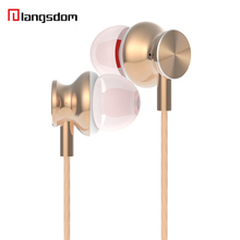 Original Stereo HiFi In-Ear Earphone Rose Gold Metal Earbud Fashion ErgoFit Noise Isolating Super Bass with Mic For iPhone HTC