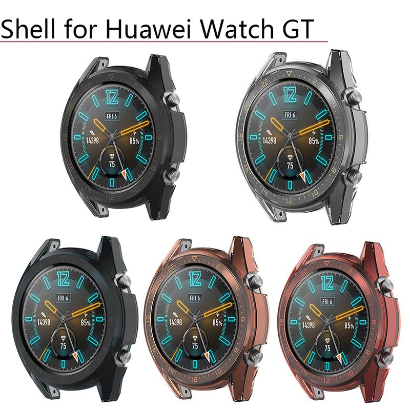 Watch Case Cover Frame Skin Protector Anti-Scratch Transparent TPU Protective Shell for Huawei Watch GT Smart Watch Accessories