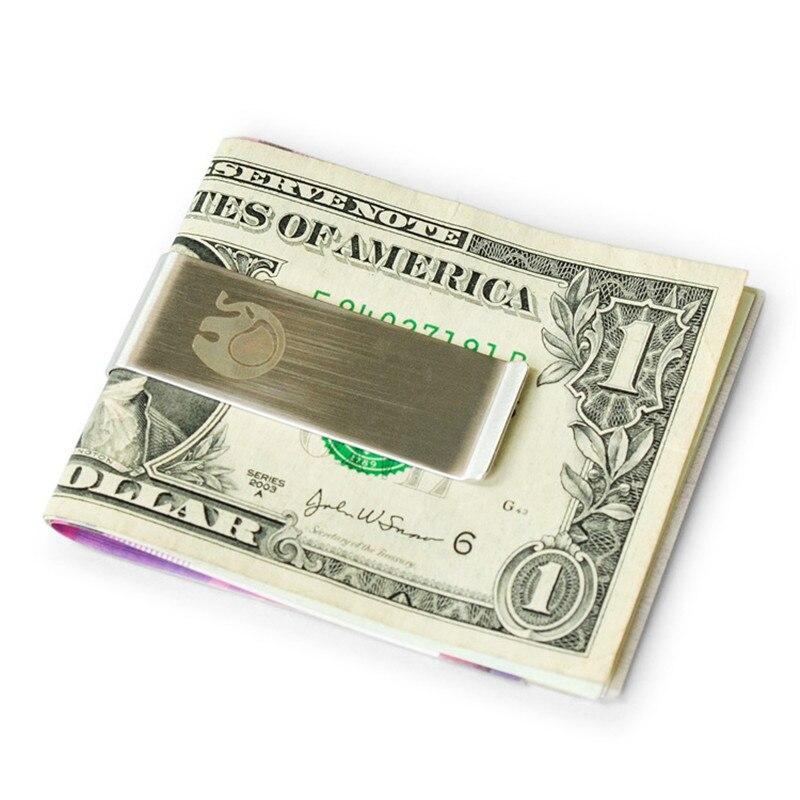 Pince à billets homme hommes anti-dérapant portefeuilles en métal pince à billets d'argent hommes pochette mince hommes Mini commodité portefeuille en acier inoxydable portefeuille