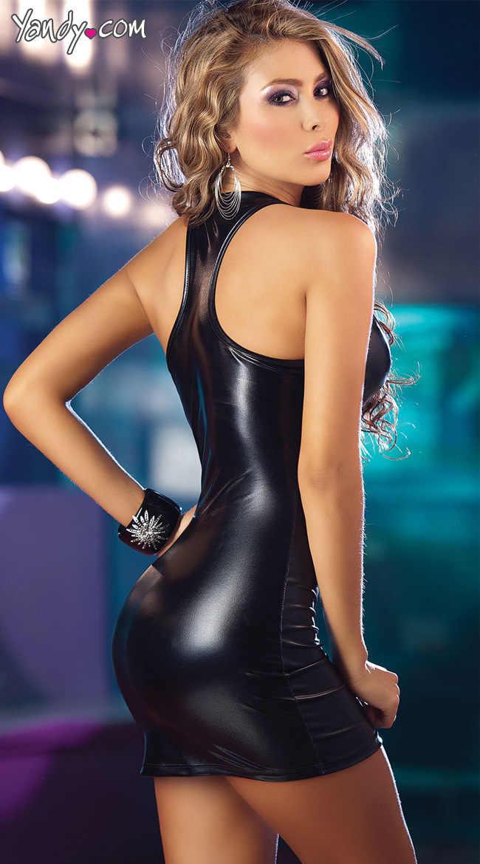 Очаровательная сексуальная молния жилет Женское белье из лакированной кожи подражать этап женщина Блестящий открытый бюстгальтер платье ПВХ комбинезон Robe Club Erotique qz *