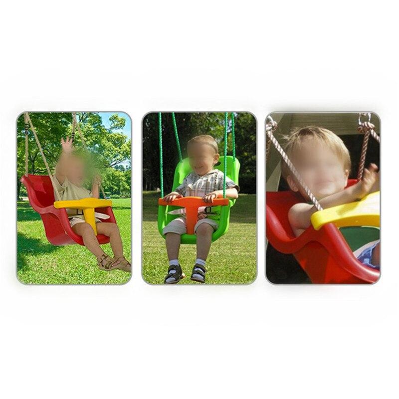 3 en 1 multifonctionnel sûr enfants balançoire enfant maternelle aire de jeux famille grand espace couleur bébé balançoire enfants jouets de plein air - 6