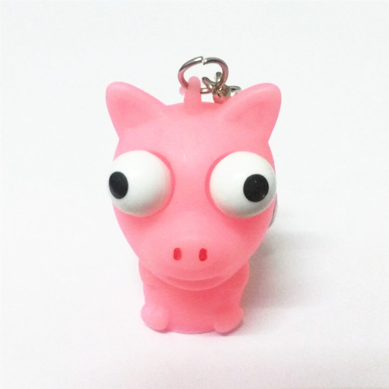 Funny anti Stress ball animal random vent Caomaru Keychain toys Novelty Products fun Antistress extruding Raised eyes doll