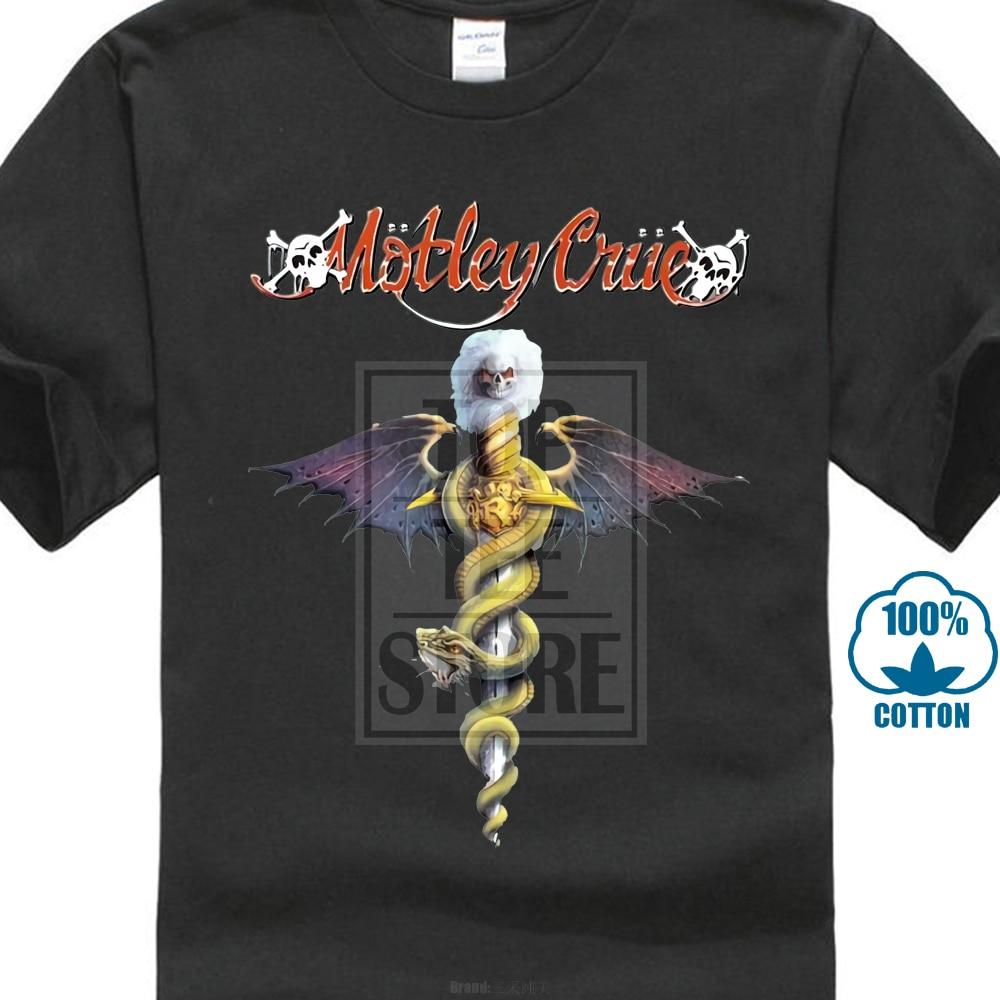 New Motley Crue Rock Band Logo Music Legend Men'S Black   T     Shirt   Size S To 3Xl