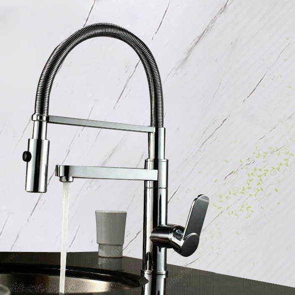 Brass Kitchen Faucet Free Antique Inspired Pull Down