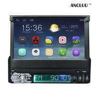 Android 6.0 Universal 1 Din Coche Reproductor de vídeo pantalla retráctil de Navegación GPS En el tablero 1 din Car Radio Stereo con bluetooth
