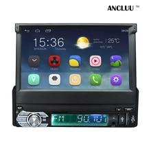 Android 6.0 Универсальный 1 Din Автомобильный видео-Плеер GPS Навигация В тире выдвижной экран 1 дин Радио Стерео с bluetooth