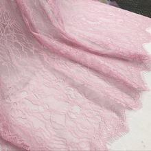2018 products! Pink, beige, Purple, voilet, Black, off white 1.5x1.5 Meters/piece dyed chantilly french lace fabric best selling