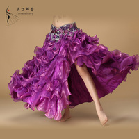 Women Belly Dancing Clothing Long Maxi Skirts Professional 5 Colors Oriental Dance Belly Dance Skirts