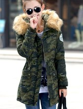 2016 new women winter coat wadded jacket medium-long plus size 4XL Parka fur collar thickening hood  female coat and jacket