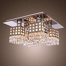 Современная и контракт креативный ресторан кристалл droplight модно гостиная спальни из светодиодов поглощать свет купола
