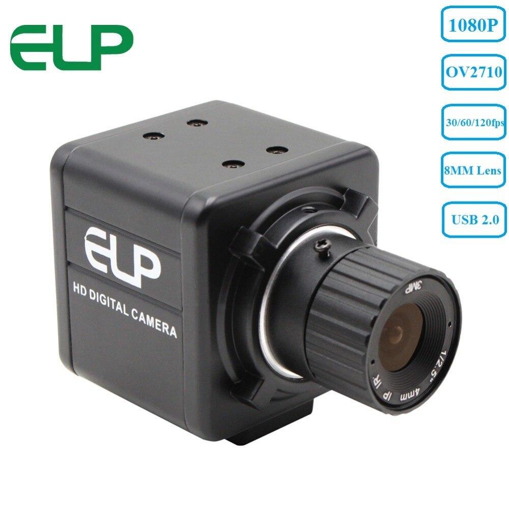 Industriel 1080 p hd 30fps/60fps/120fps Cmos haute vitesse ov 2710 8mm objectif à mise au point Manuelle mini USB Caméra webcam pour tablette android