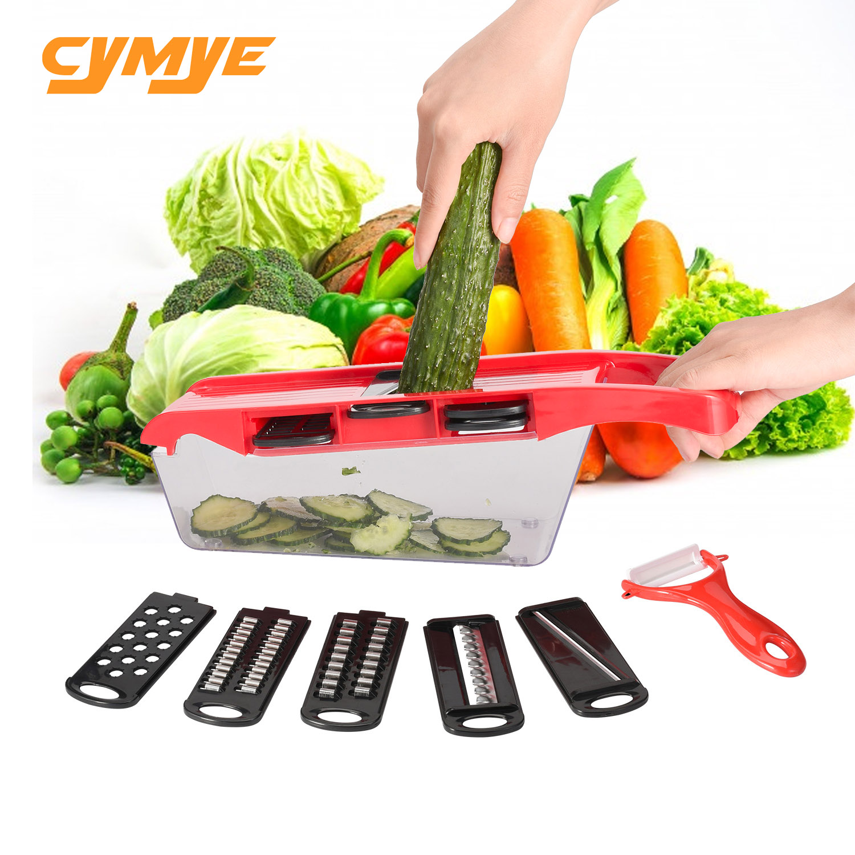 Cymye gemüse cutter mit Stahl Klinge Mandoline Slicer Kartoffel Schäler Karotte Käse Reibe gemüse slicer