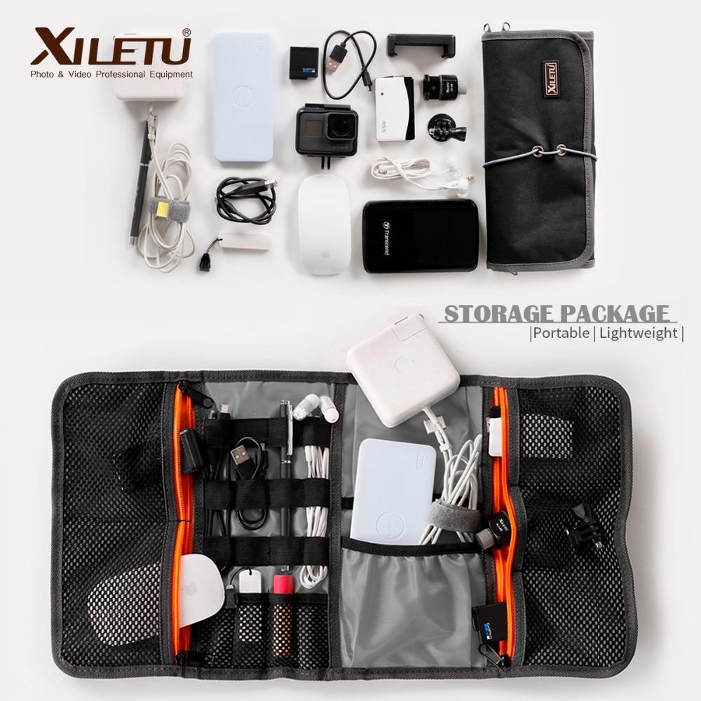 XILETU LP-9 Étanche Stockage De Câble De données Sac hydrofuge sacs Fil Stylo Puissance Banque Lens Filter Kit Pour accessoires numériques