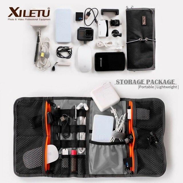 XILETU LP 9 Waterdichte datakabel Opbergtas waterafstotend zakken Draad Pen Power Bank Lens Filter Kit Voor digitale Accessoires