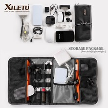 XILETU LP 9 Waterproof data Cable Storage Bag water repellent bags Wire Pen Power Bank Lens Filter  Kit For Digital Accessories
