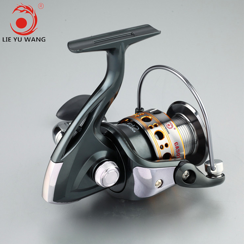 GA 1000-7000 Series New Design Worm Shaft Structure 13BB Quality Lure Spinning Fishing Reel with Carbon Fiber Handle