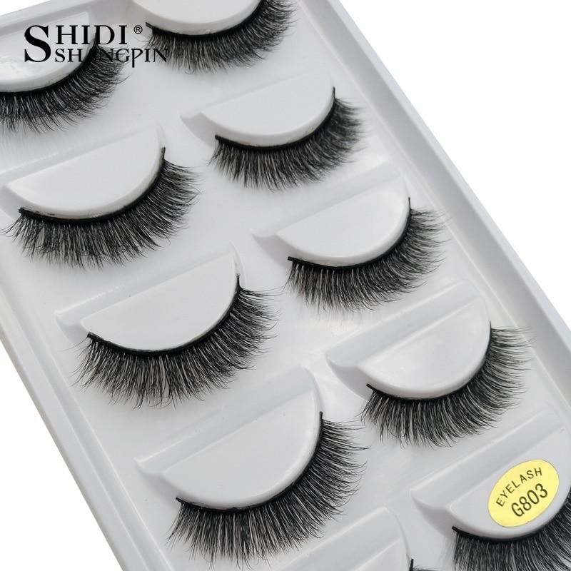 Image 4 - SHIDISHANGPIN 50 pairs natural long false eyelashes fluffy 3d mink lashes make up 100% cruelty free fake eyelash faux cils G803False Eyelashes   -