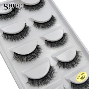 Image 4 - SHIDISHANGPIN 50 pairs natural long false eyelashes fluffy 3d mink lashes make up 100% cruelty free fake eyelash faux cils G803