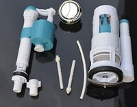 toilet accessories luxury Toilet tank fittings kit retractable telescopic outlet valve inlet valve drain valve double button