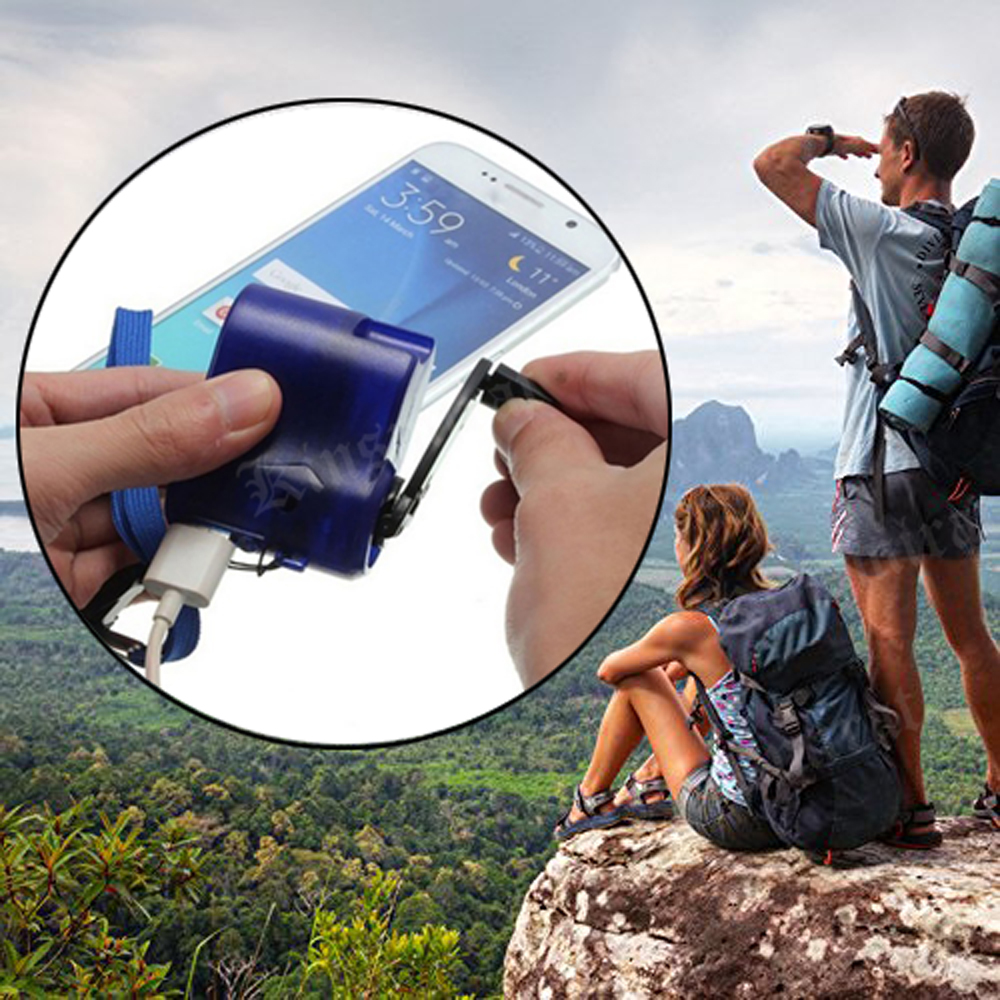 USB Phone Emergency Charger For Outdoor Survival Kit Camping Travel Multifunction Hand Crank  Charger SOS EDC Emergency Supplies