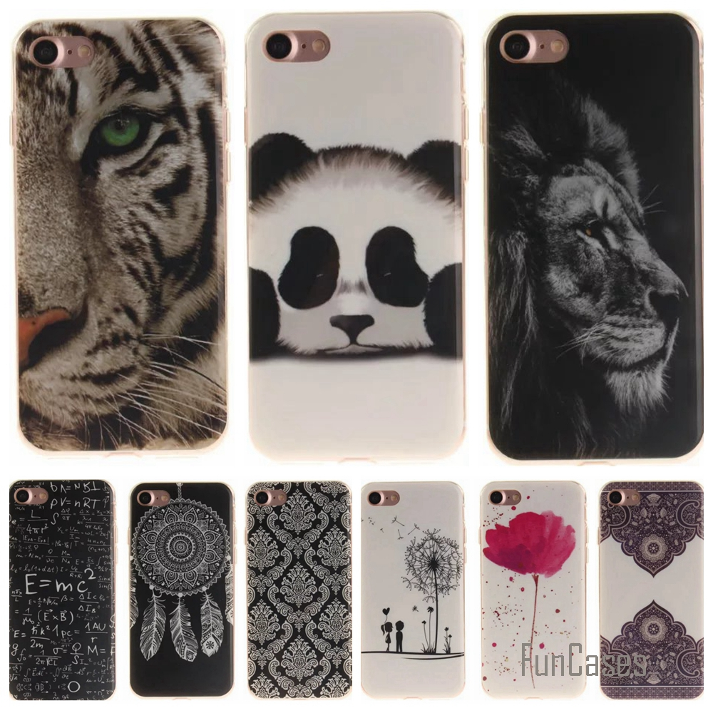 Phone Case sfor iPhone 7 4.7 inch Cartoon High Quality Glossy Soft TPU Case Back Cover for For Apple iPhone 7 / 7Plus 5.5 inch