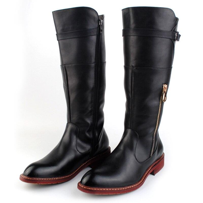 US $48.16 31% di SCONTO ERRFC Britannico di Tendenza Rosso Stivali Alti Al Ginocchio Degli Uomini di Punta Rotonda Cowboy DELL'UNITÀ di elaborazione