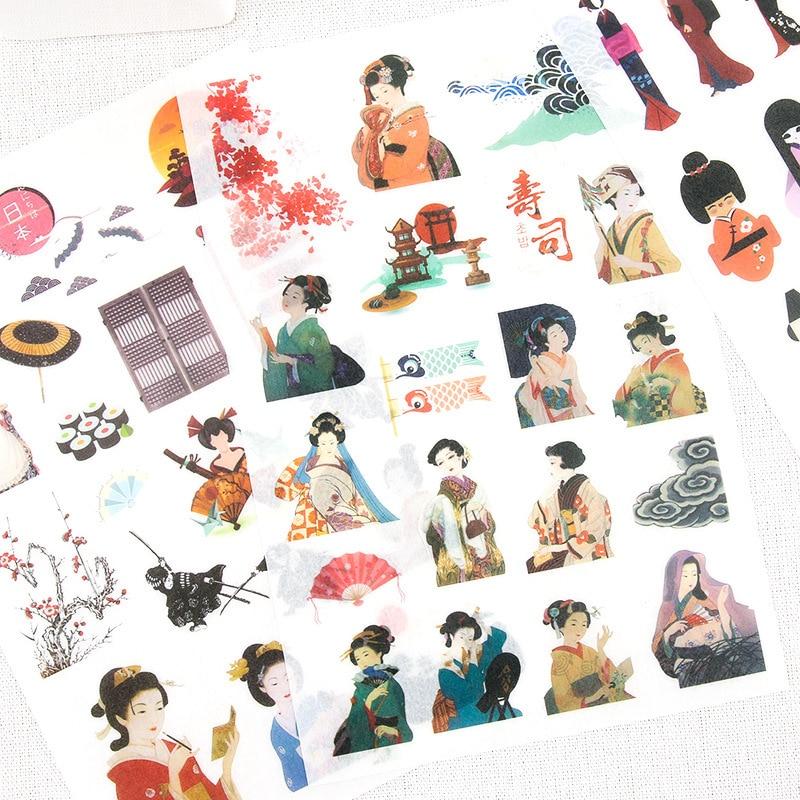все цены на 5 Sheets Cute Japanese Style Stationery Tokyo Story Sticker Kawaii Cartoon Dancing Girl Waves Noodle Dairy Stickers Kids Gift онлайн