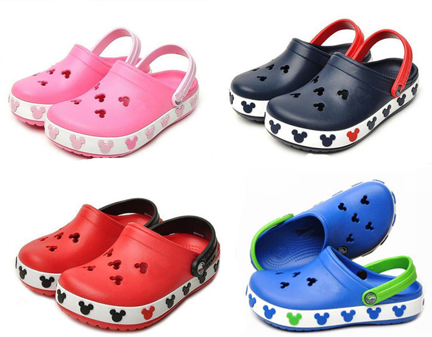 2015 Toddler Brand New Summer Style 3D Cartoon Minnie Mickey Model Girls Boys Beach Slippers Gifts