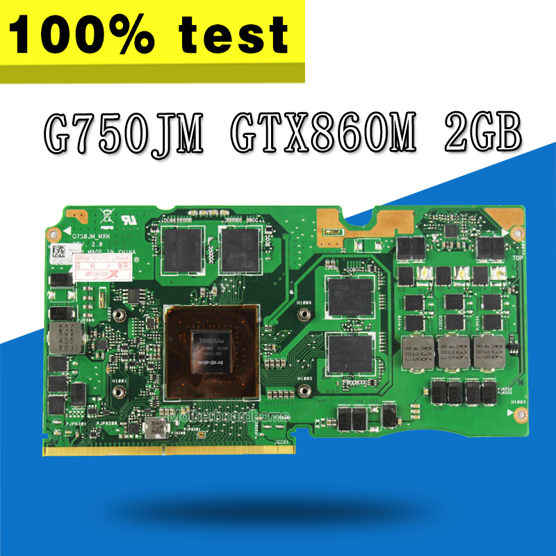 G750JM VGA CARD Graphic GTX860M 2GB For ASUS G750J G750JM Laptop motherboard G750JM VGA CARD Graphic Video Card test 100% ok original v5tgf 0v5tgf cn 0v5tgf ati hd6870m 1gb laptop vga video card hd 6870m m17x r3 graphic card
