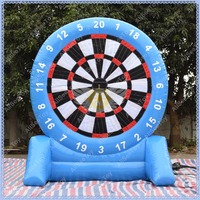 Blue Air Sealed Inflatable Foot Darts Game, 2 Sides Airtight Soccer Darts for Sale