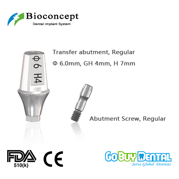 Osstem TSIII&Hiossen ETIII abutment compatible Hexagon RC transfer abutment D6.0mm, gingival height 4mm, height 7mm(331390)Osstem TSIII&Hiossen ETIII abutment compatible Hexagon RC transfer abutment D6.0mm, gingival height 4mm, height 7mm(331390)