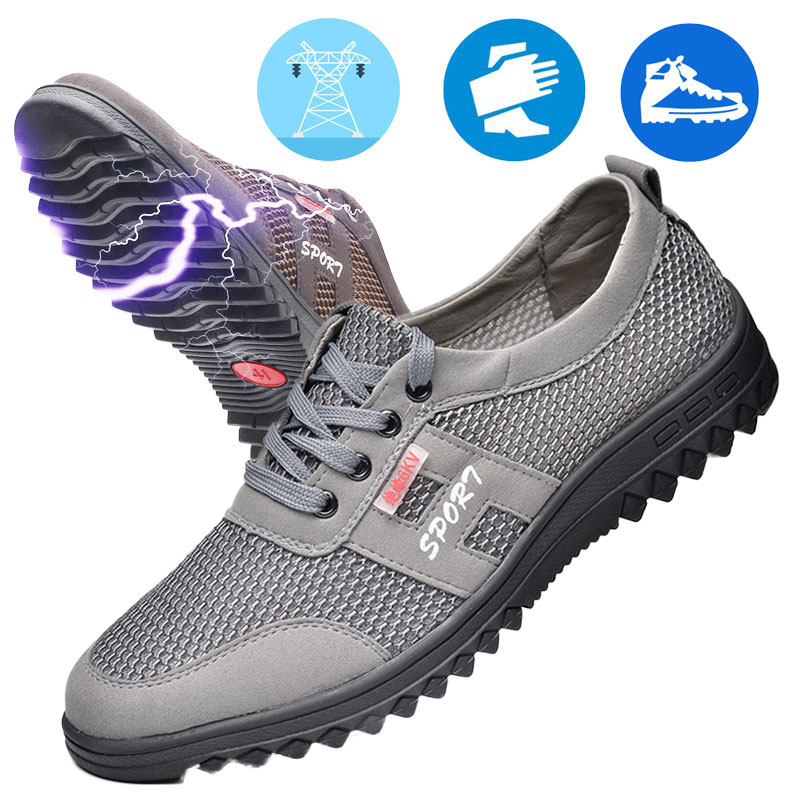 6Kv Insulating Safety Shoes Anti-static Summer Breathable Men's Electrician Shoes Comfortable Breathable Deodorant Work Shoes