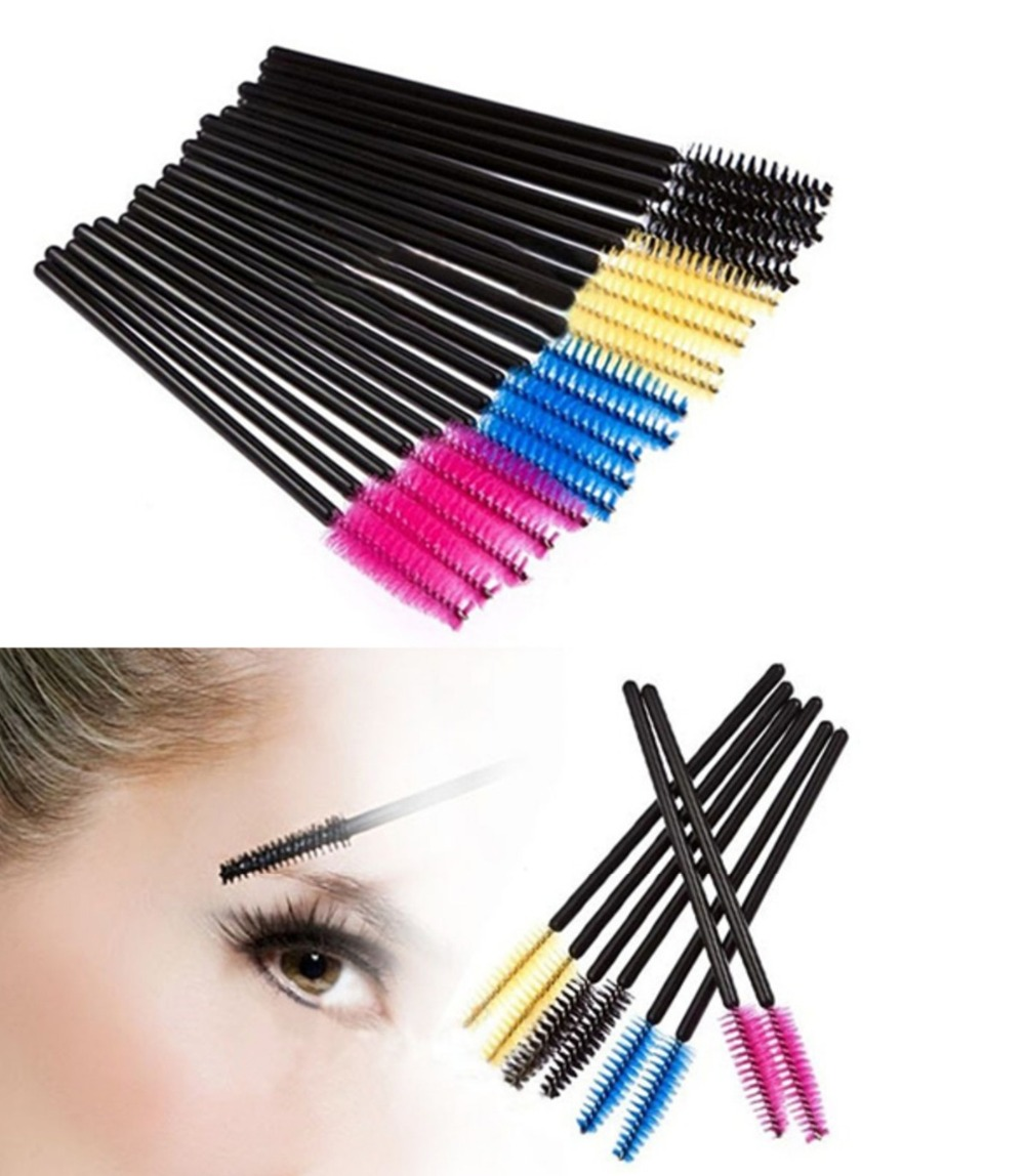 100pcs disposable eyelash brush mascara applicator wand for Mascara with comb wand