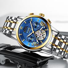 LIGE New Luxury Gold Automatic Mechanical Mens Watch Men Waterproof Diving Watches Luminous Stainless Steel Tourbillon Men Clock цена 2017