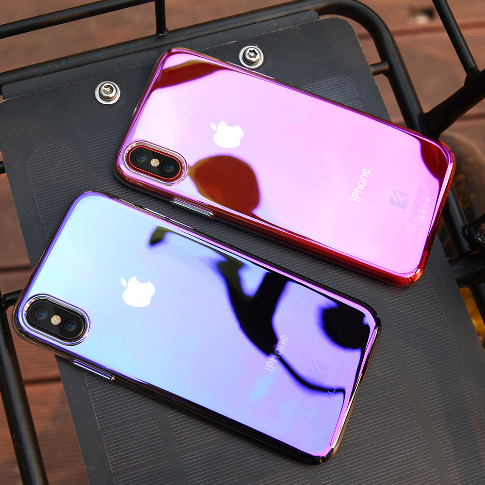 Contact Case: Phone Cases For IPhone X Luxury Blue Ray Fashion Mobile