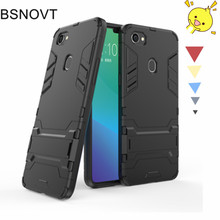 цены OPPO A3 Case Silicone + Plastic Kickstand Bumper Anti-knock Phone Case For OPPO A3 Cover For OPPO A3 Funda Phone Holder BSNOVT