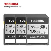 Toshiba Pro SD карты UHS U3 128 ГБ 95 МБ/с. SDXC 64 ГБ карты памяти 32 ГБ 16 ГБ SDHC Поддержка 4 К Цифровые зеркальные камеры видеокамеры DV