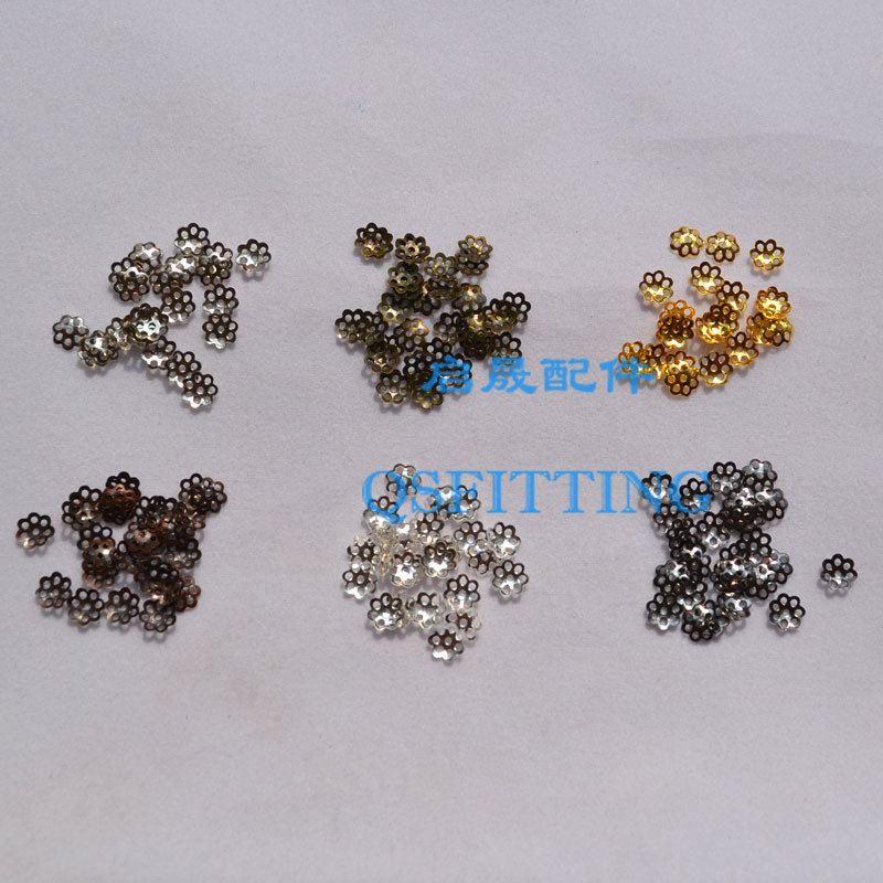 100pcs/lot jewelry findings and components,6MM metal Accessory,earring Spacers,earring findings