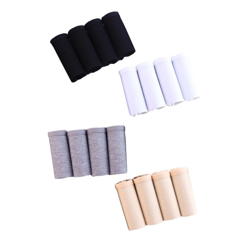 4Pcs/Lot women's sexy   Panties   Calcinha Cotton Breathable Briefs Lingerie Plus Size S-3XL solid color underwear Seamless   panty
